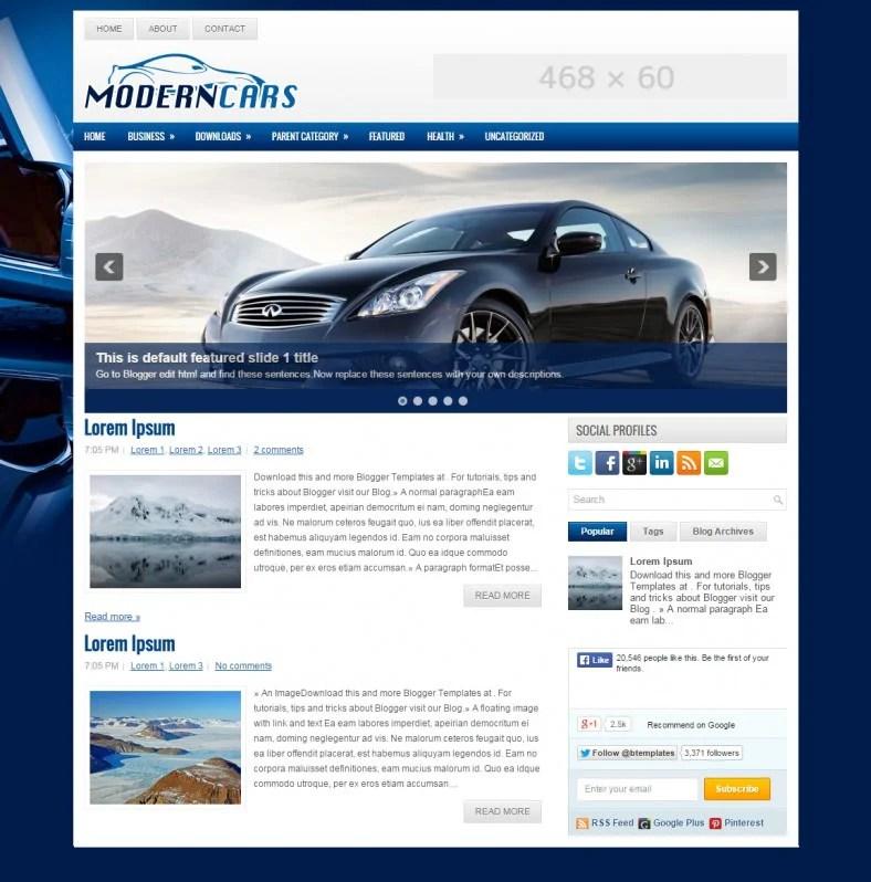 10 Best Automobile Blogger Templates  Themes Free  Premium Templates - car ad template
