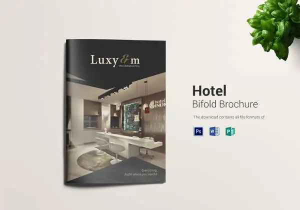 Gallery Free Bi Fold Brochure Template Hotel Templates Ninja Co - Hotel flyer templates free download