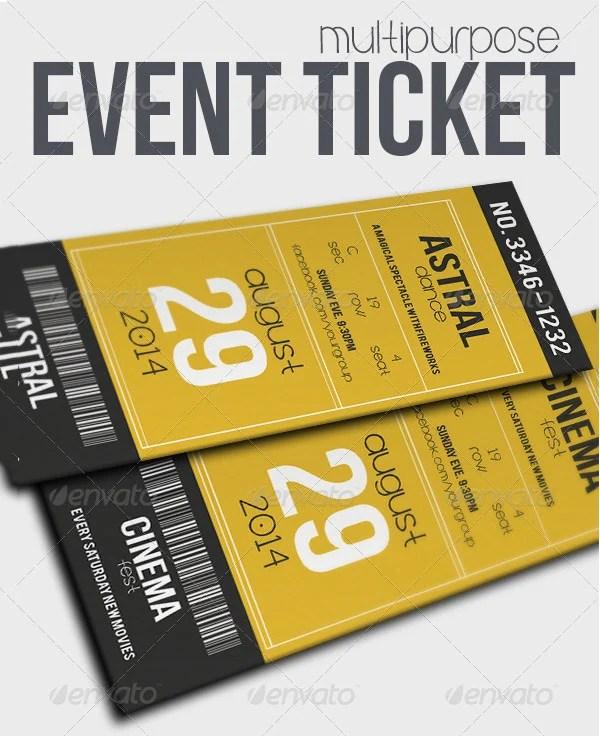 Ticket Invitation Template - 55+ Free PSD, Vector EPS, AI, Format - ticket invitation