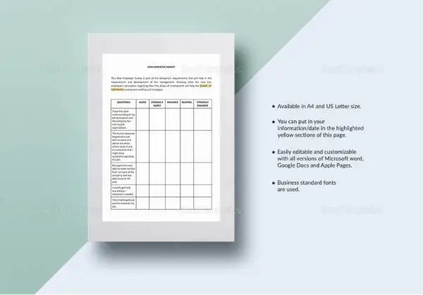 Sample Survey Template In Word - Costumepartyrun - ms word survey template