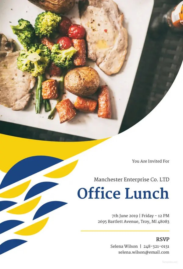 Lunch Invitation Template - 34+ Free PSD, PDF Documents Download