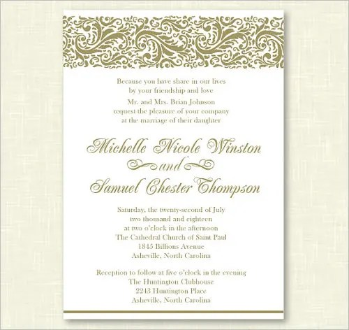 formal invitation card format - Ozilalmanoof - Formal Invitation