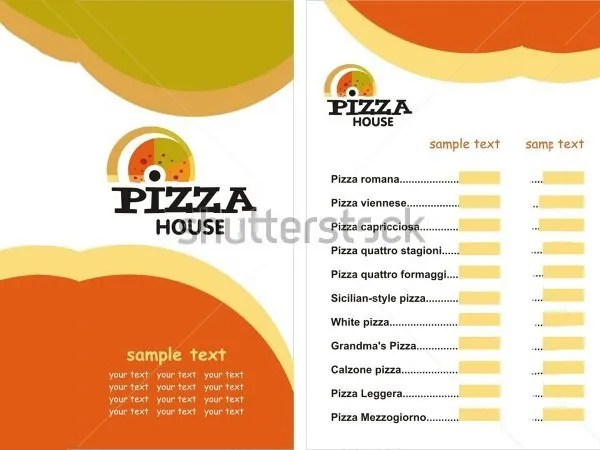 Pizza Menu Templates \u2013 31+ Free PSD, EPS Documents Download! Free