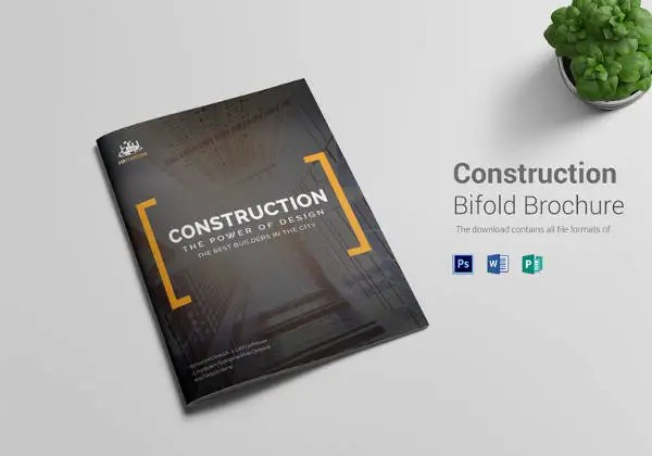 17+ Top Construction Company Brochure Templates Free  Premium
