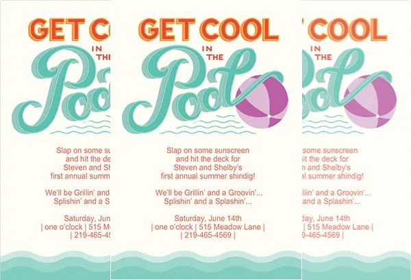 36+ Pool Party Invitation Templates - PSD, AI, Word Free  Premium