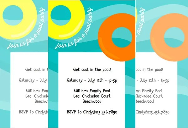Pool Party Invitation Template - 38+ Free PSD Format Download