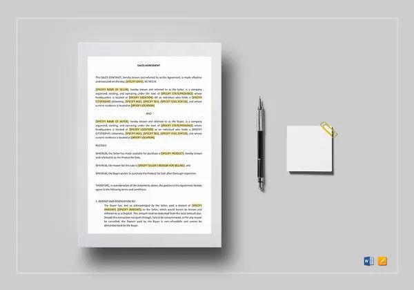 simple contract agreement form