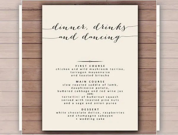 Dinner Menu Templates u2013 35+ Free Word, PDF, PSD, EPS, InDesign - dinner party menu template
