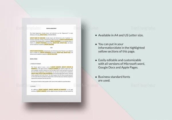 14+ Residential Rental Agreement Templates \u2013 Free Sample, Example