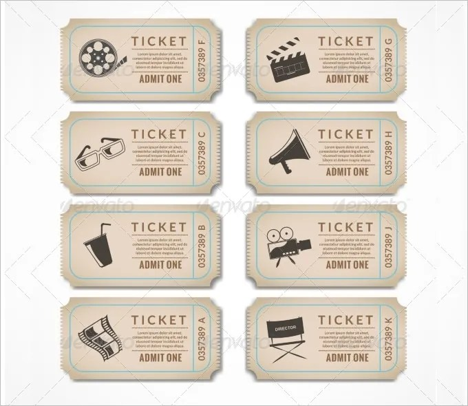 8+ Movie Ticket Templates - Free Word, EPS, PSD Formats Download - movie theater ticket template
