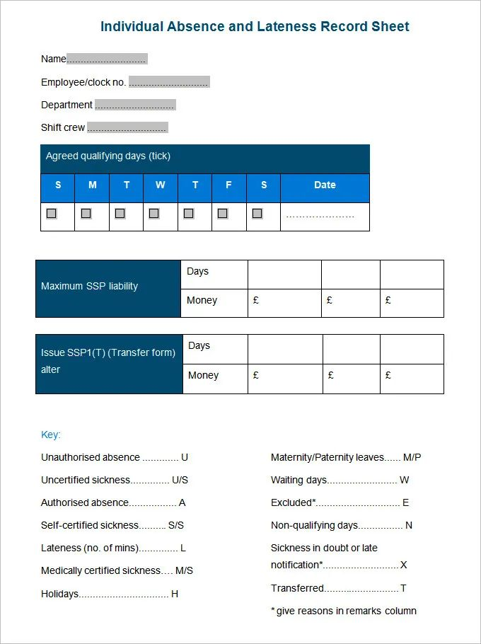 employee information form template free