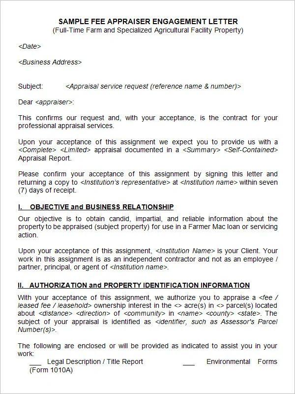 appraisal letter to hr