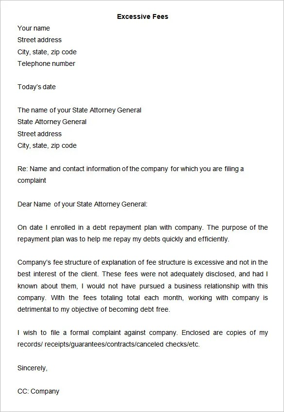 49+ Complaint Letter Templates - DOC, PDF Free  Premium Templates - complaint mail format