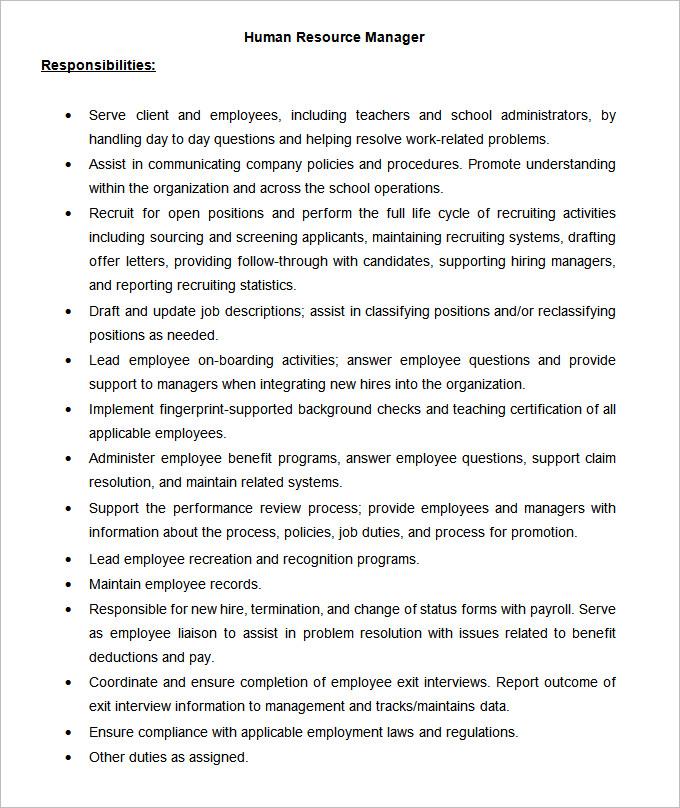 Management Consultant Job Description Doc Hr Consultant Duties Hr - case management job description