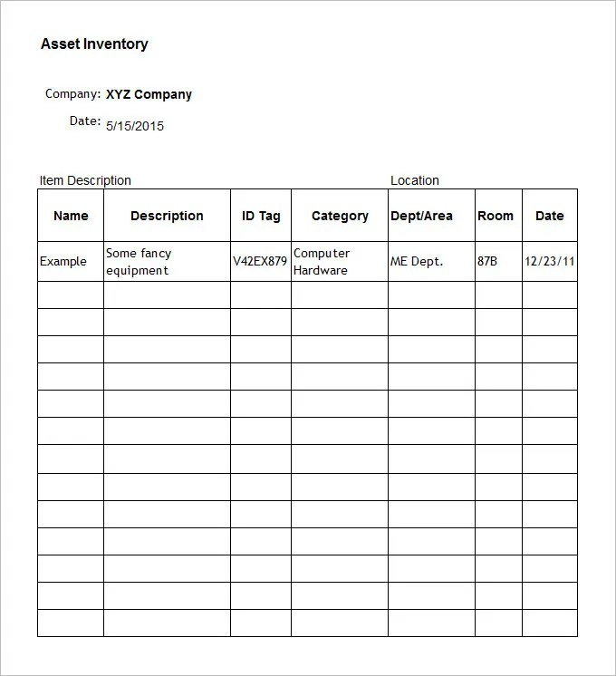 Land Inventory Template Kitchen Inventory Sheets Formulas No Hidden - landlord inventory template