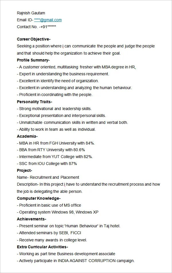 How To Write An Incomplete Degree On A Resume Resume Templates For