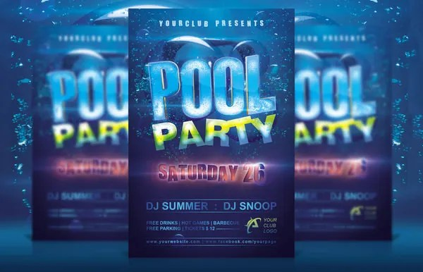 Pool Party Invitation Template 38 Free Psd Format Download Free Premium Templates