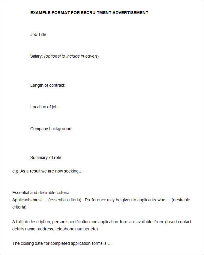 Strategic Recruiting Plan Template   Free Resume Templates ...