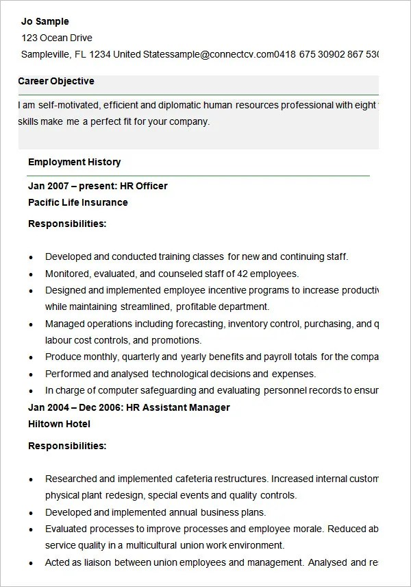 cv template for hr manager - Selol-ink - human resources resume template