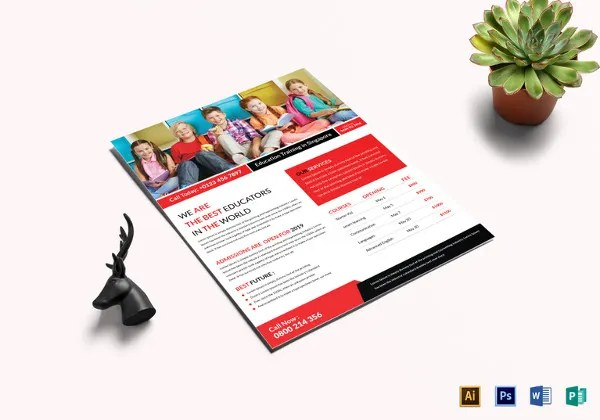 25+ Best Academic Flyer Templates  Designs - Word, PSD, EPS Free