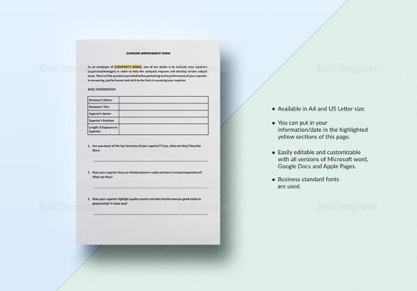 13+ Sample HR Appraisal Forms - PDF, DOC Free  Premium Templates - simple appraisal form