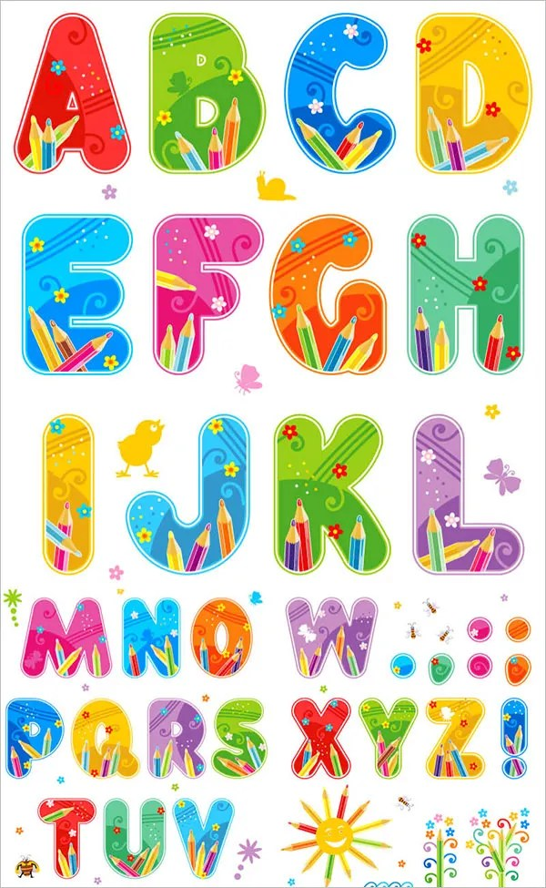 23+ Large Alphabet Letter Templates  Designs Free  Premium Templates
