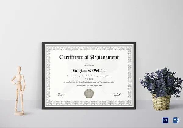 36 Fabulous Achievement Certificate Templates Word Psd
