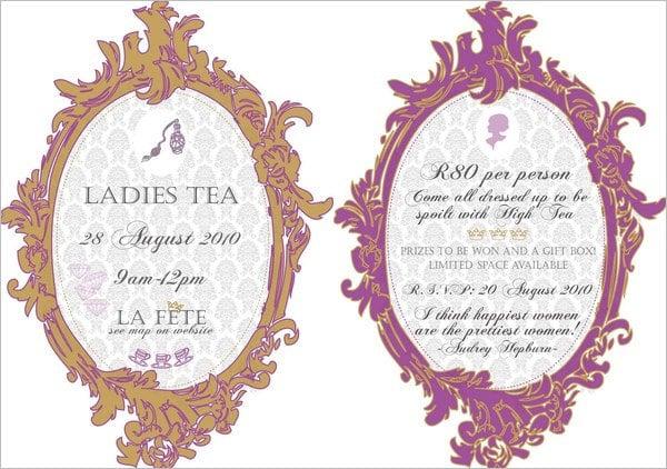Tea Party Invitation Template - 42+ Free PSD, EPS, Indesign Format - tea party invitation template