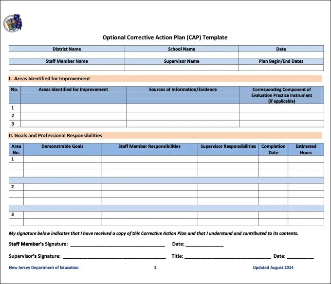Corrective Action Plan Template - 23+ Free Word, Excel PDF Format
