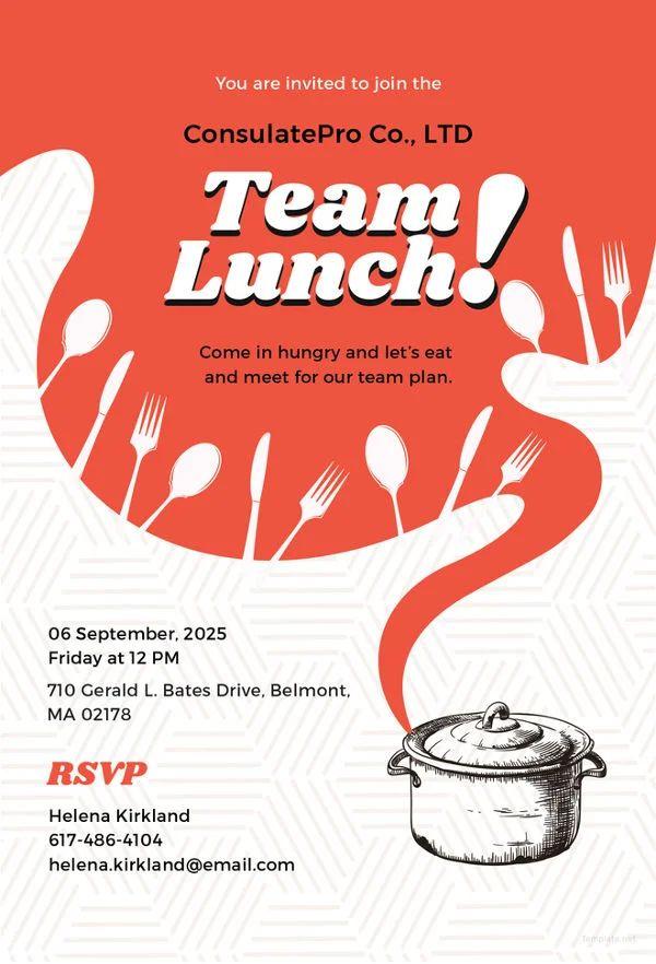 invitation for birthday lunch