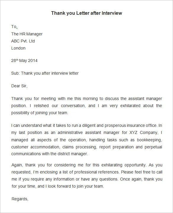 Thank You Cover Letter After Interview For Legal Jobs Image Gallery Letter Template