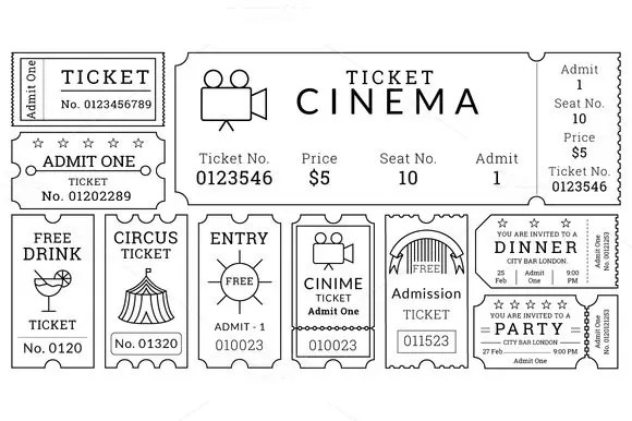 13+ Movie Ticket Templates - Free Word, EPS, PSD Formats Download - Printable Ticket Templates