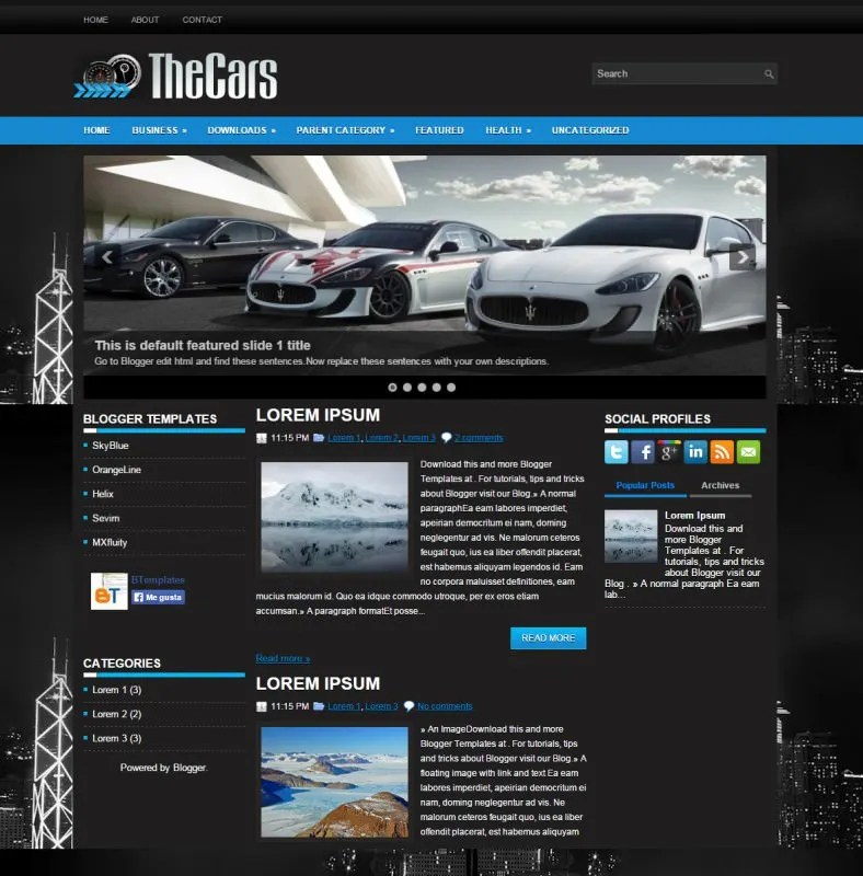 10 Best Automobile Blogger Templates  Themes Free  Premium Templates
