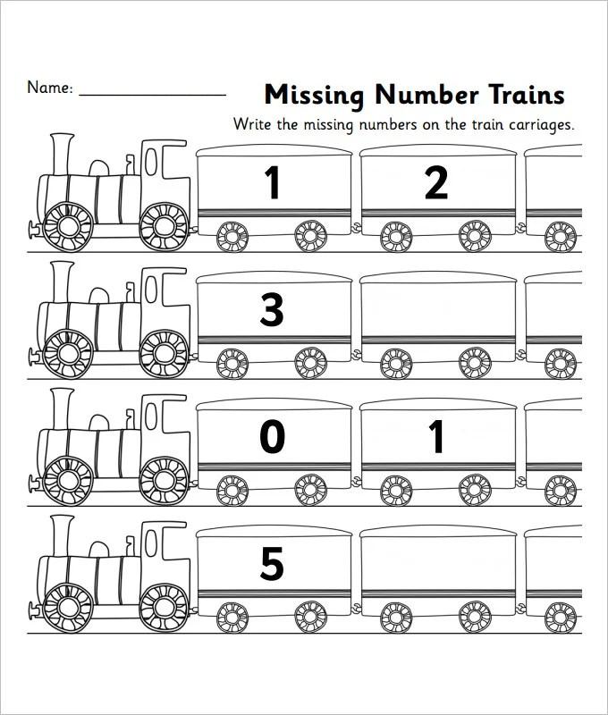 22 Sample Missing Numbers Worksheet Templates Free PDF - mandegarinfo - numbers templates free