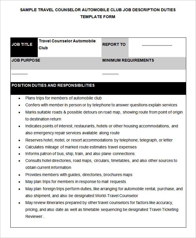 48+ HR Job Description Templates HR Templates Free  Premium
