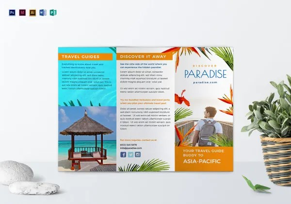 tri fold indesign template - Funfpandroid - trifold indesign template