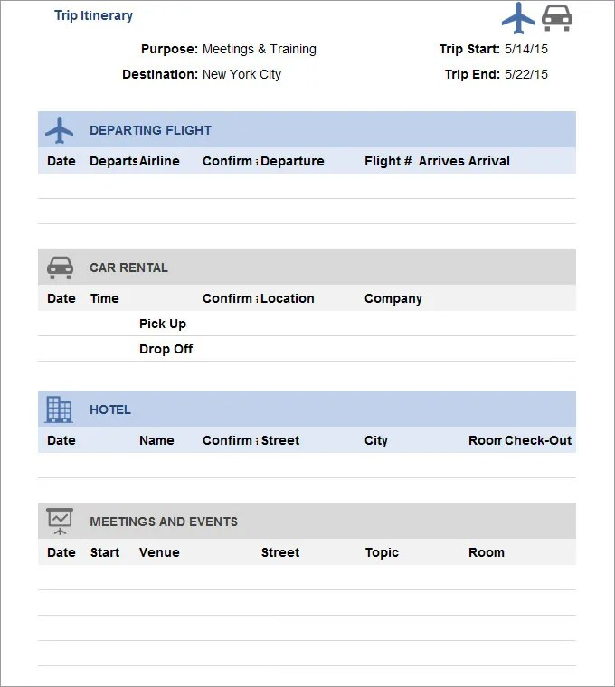 sample travel itinerary template - Engneeuforic - sample itinerary templates
