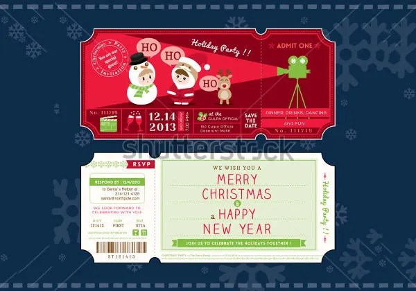 Ticket Invitation Template - 59+ Free PSD, Vector EPS, AI, Format - party ticket template free
