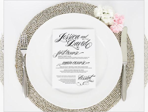 Formal Dinner Menu Template | oakandale.co