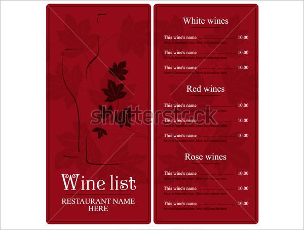 wine list template free word xv-gimnazija