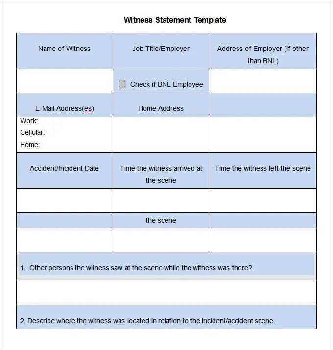 statement template for word - Onwebioinnovate