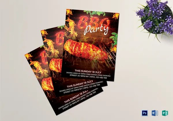 16+ BBQ Flyer Template - Free Word, PDF, PSD, EPS, InDesign Format