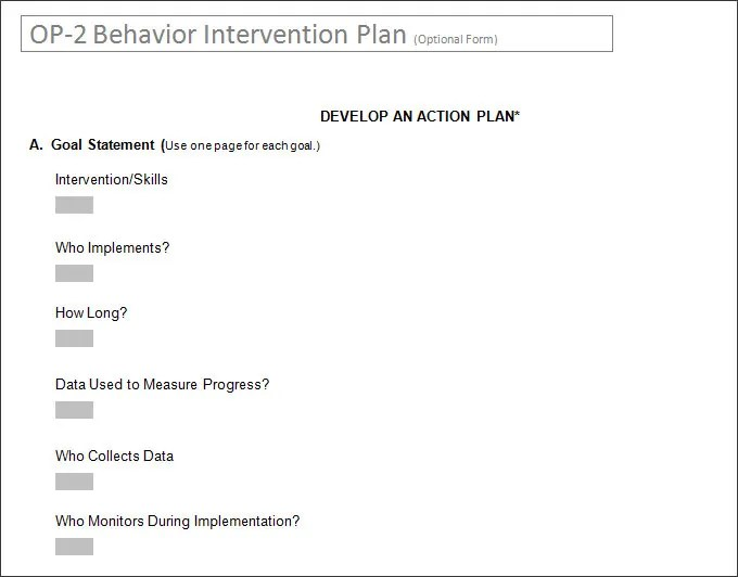 behavior modification plan sample behavior management jon weinberger - Behavior Intervention Specialist Sample Resume