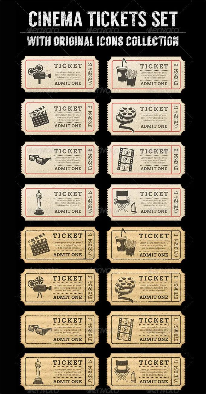 word template for tickets