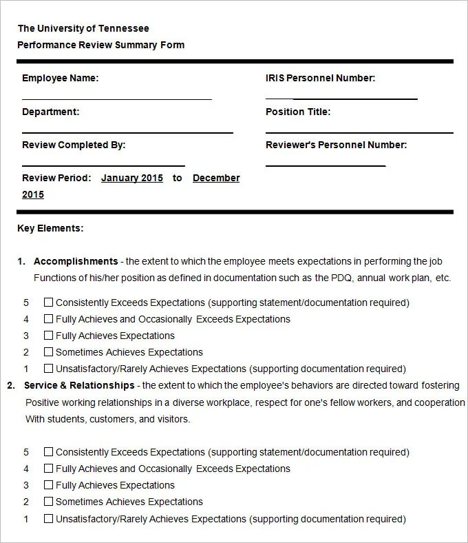 13+ HR Evaluation Forms HR Templates Free \ Premium Templates - job performance evaluation form templates
