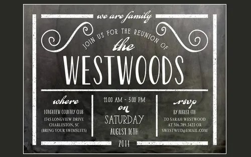 Free Family Reunion Invitations Templates Download Image collections