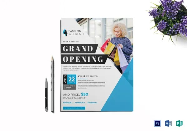 Grand Opening Flyer Template - 43+ Free PSD, AI, Vector EPS Format