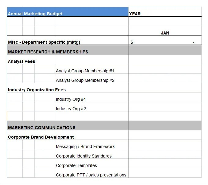 Marketing Budget Template - 22+ Free Word, Excel, PDF Documents - budget plan
