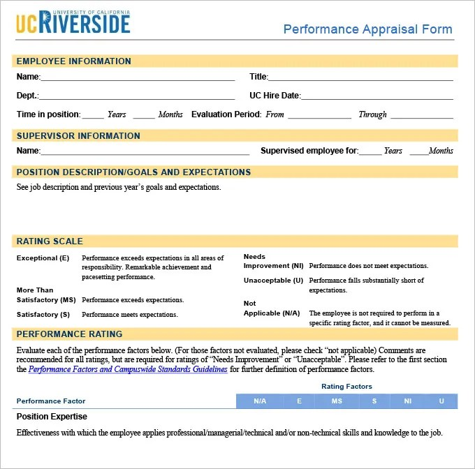 13+ Sample HR Appraisal Forms - PDF, DOC Free  Premium Templates - performance appraisal template