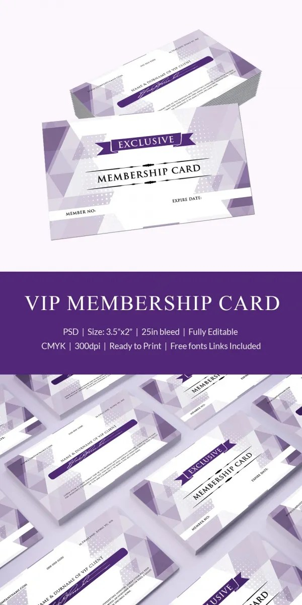 Club membership Card Sample - vheo